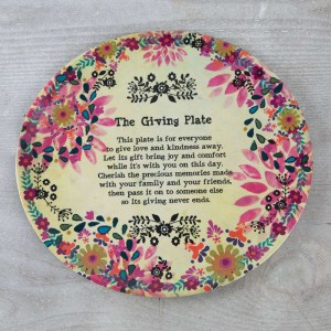 Pink Flowers Giving Plate