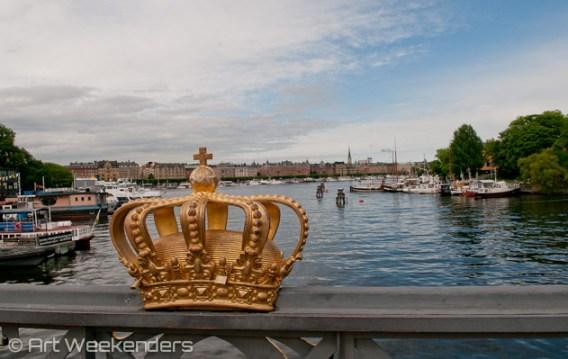 On the bridge to Skeppsholmen, Stockholm.