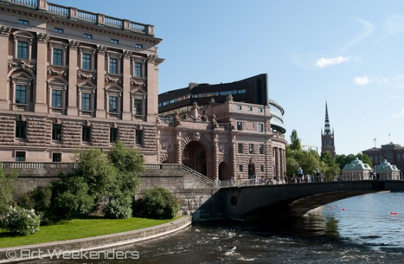 The bridge to the Royal Palace in Gamla Stan, Stockholm.