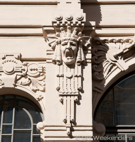 Detail of Art Nouveau in Riga