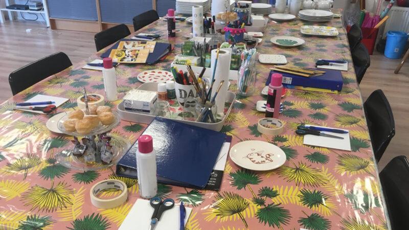 Interieur Atelier Artwise workshops en kinderfeestjes