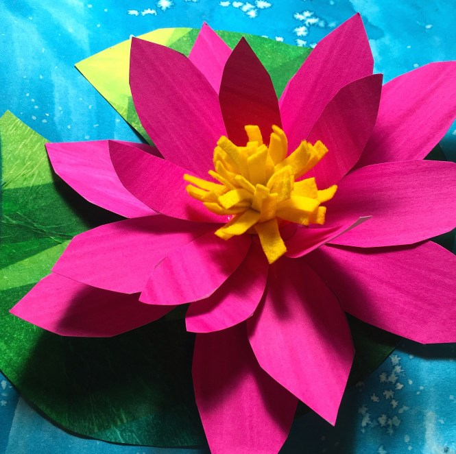Lily pad craft: how to make Felix the frog and lily pad | 662x665