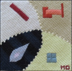 Mark Olshansky abstract needlepoint Mini 12