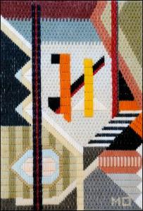 Mark Olshansky abstract needlepoint Attic View
