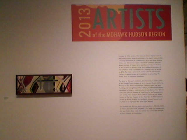 Mark Olshansky abstract needlepoint at 2013 Artist of the Mohawk exhibit