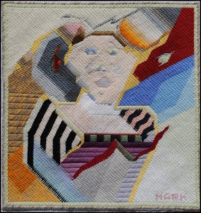 Mark Olshansky abstract needlepoint Diva