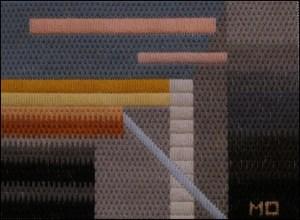 Mark Olshansky abstract needlepoint Fall Mini 4