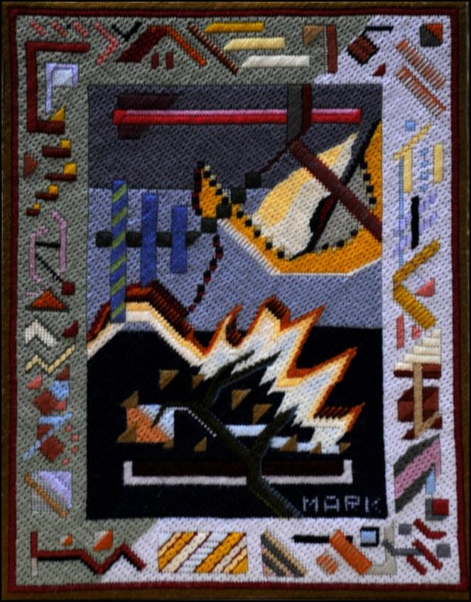 Mark Olshansky abstract needlepoint Infant 8