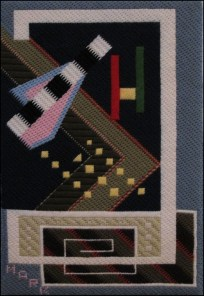 Mark Olshansky abstract needlepoint Mel