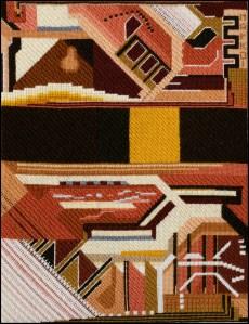 Mark Olshansky abstract needlepoint Mexico