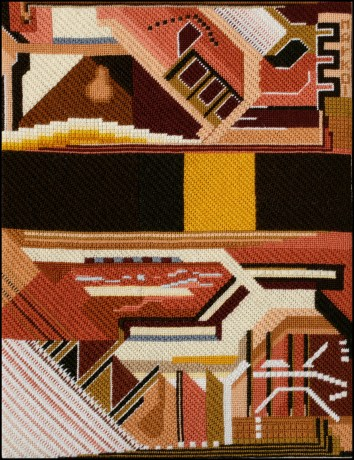 Mark Olshansky abstract needlepoint Mexico