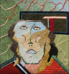 Mark Olshansky abstract needlepoint Mezzo