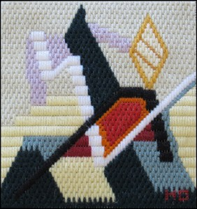 Mark Olshansky abstract needlepoint Mini 5