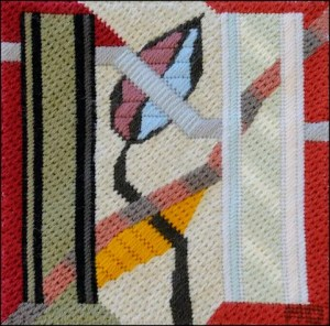 Mark Olshansky Abstract Needlepoint Fall Mini 9 sold