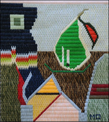 Mark Olshansky abstract needlepoint Almost a Still Life