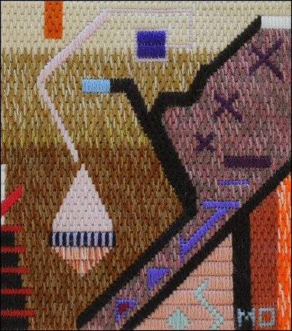 Mark Olshansky abstract needlepoint E Minor Shostakovich