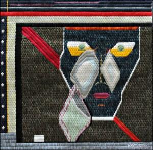 Mark Olshansky abstract needlepoint Three Tears for…