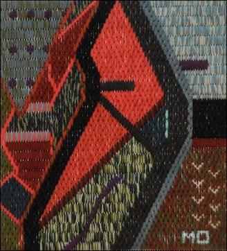 Mark Olshansky abstract needlepoint The Offering