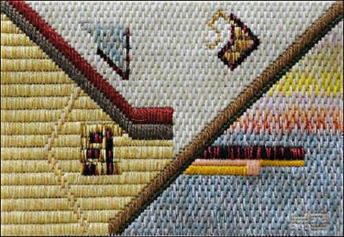 Mark Olshansky abstract needlepoint Hockey Stick Shorty