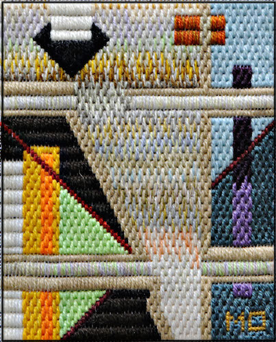 Mark Olshansky Abstract Needlepoint Brooklyn Chasm