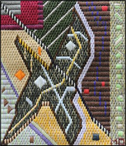 Mark Olshansky Abstract Needlepoint Saturday Night Feverish