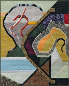 Mark Olshansky abstract needlepoint Waterrise