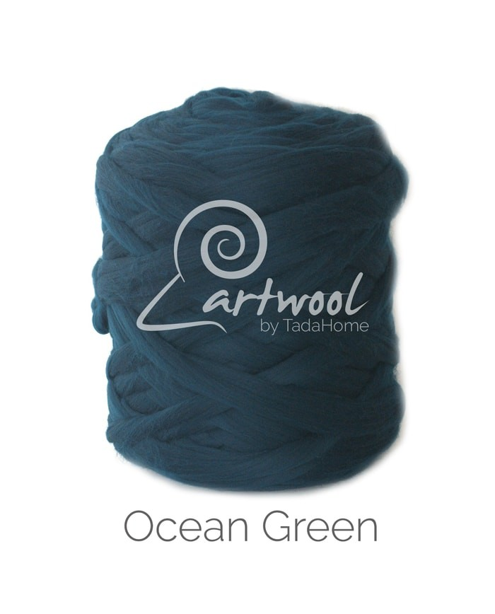 Ocean Green Merino Wool Chunky Yarn