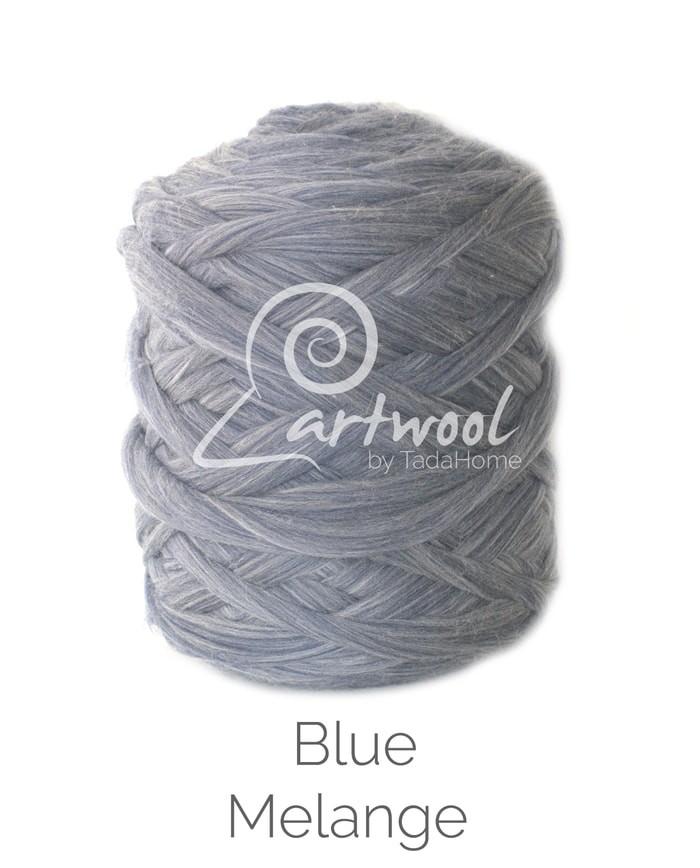 Blue Melange Merino Wool Chunky Yarn