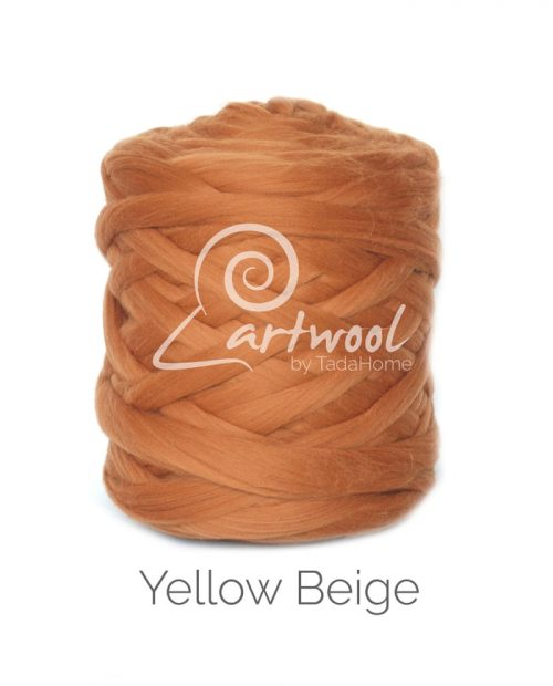 Yellow Beige Merino Wool