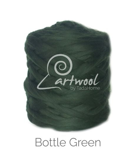 Bottle Green 100% Merino Yarn Wool Giant Chunky Extreme Big Arm Knitting 1 kg