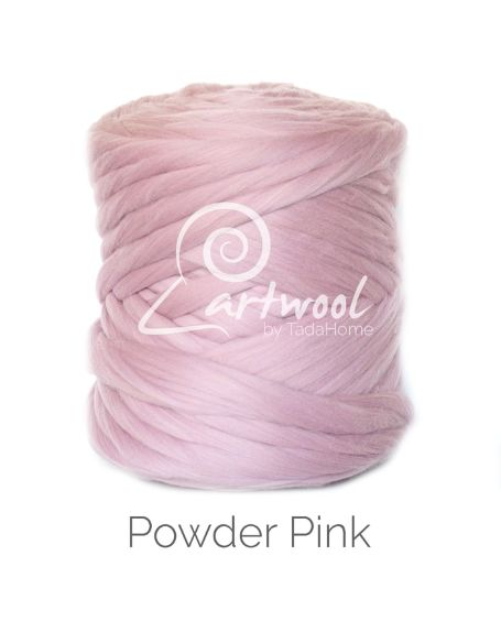 Powder Pink pink 100% Merino Yarn Wool Giant Chunky Extreme Big Arm Knitting 1 kg
