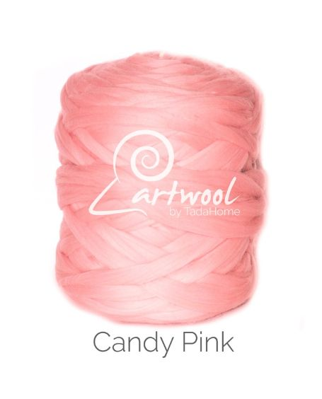 Candy pink 100% Merino Yarn Wool Giant Chunky Extreme Big Arm Knitting 1 kg