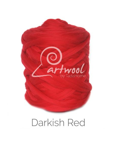 Dark Red 100% Merino Yarn Wool Giant Chunky Extreme Big Arm Knitting 1 kg
