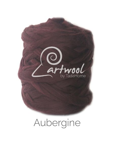 Aubergine 100% Merino Yarn Wool Giant Chunky Extreme Big Arm Knitting 1 kg
