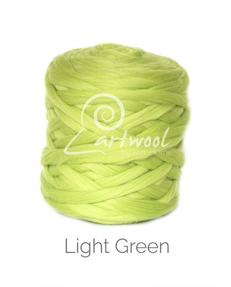 Light Green 100% Merino Yarn Wool Giant Chunky Extreme Big Arm Knitting 1 kg