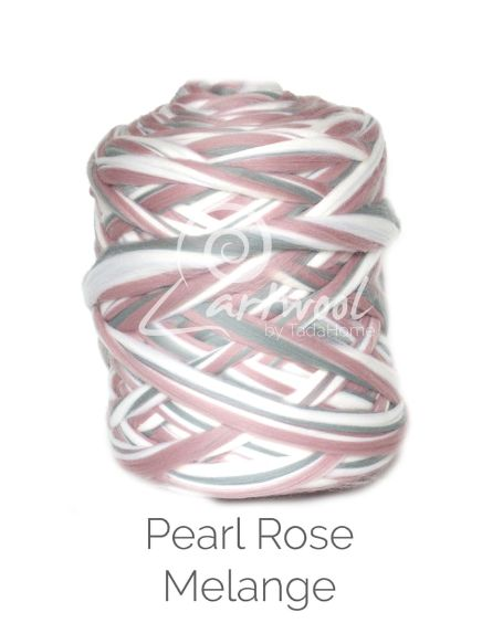 Pearl Rose Melange 100% Merino Yarn Wool Giant Chunky Extreme Big Arm Knitting 1 kg