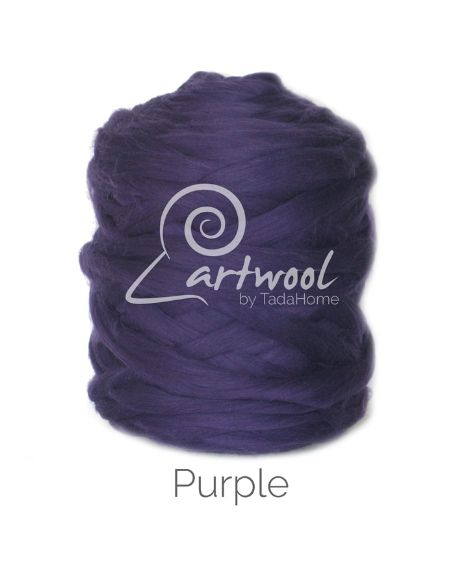 Purple 100% Merino Yarn Wool Giant Chunky Extreme Big Arm Knitting 1 kg