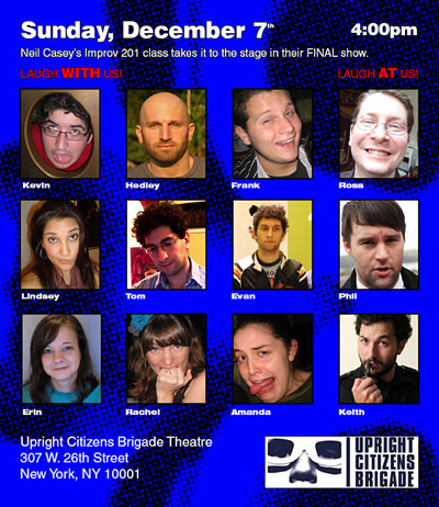 Upright Citizens Brigade Theatre 201 Class
