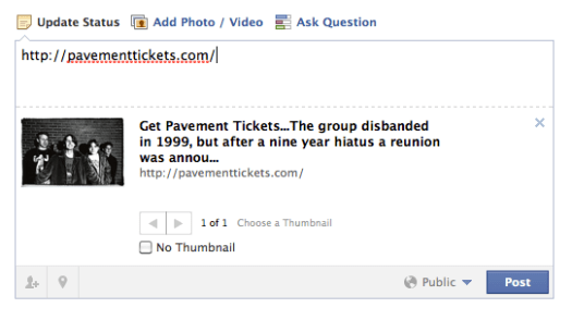 PavementTicket.com on facebook