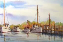 ceramic nautical tile murals and
