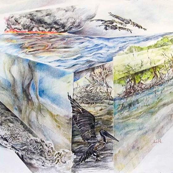 oil spill landscape