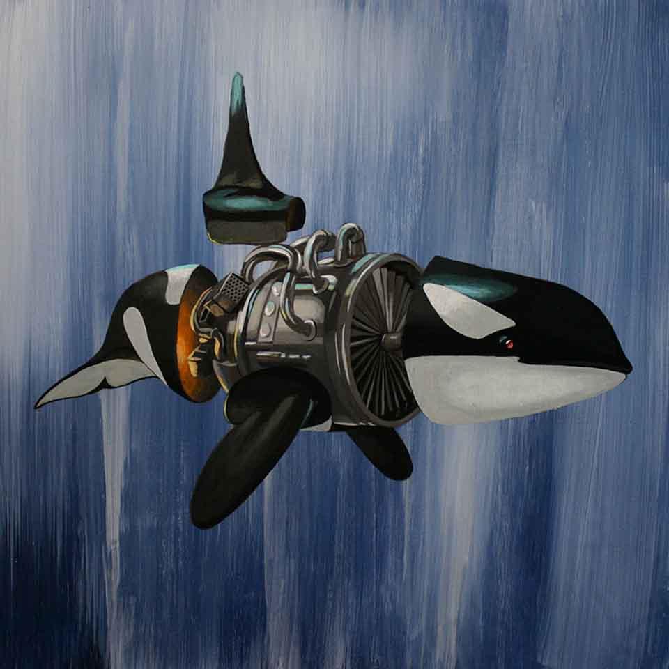 orca with machine engine body