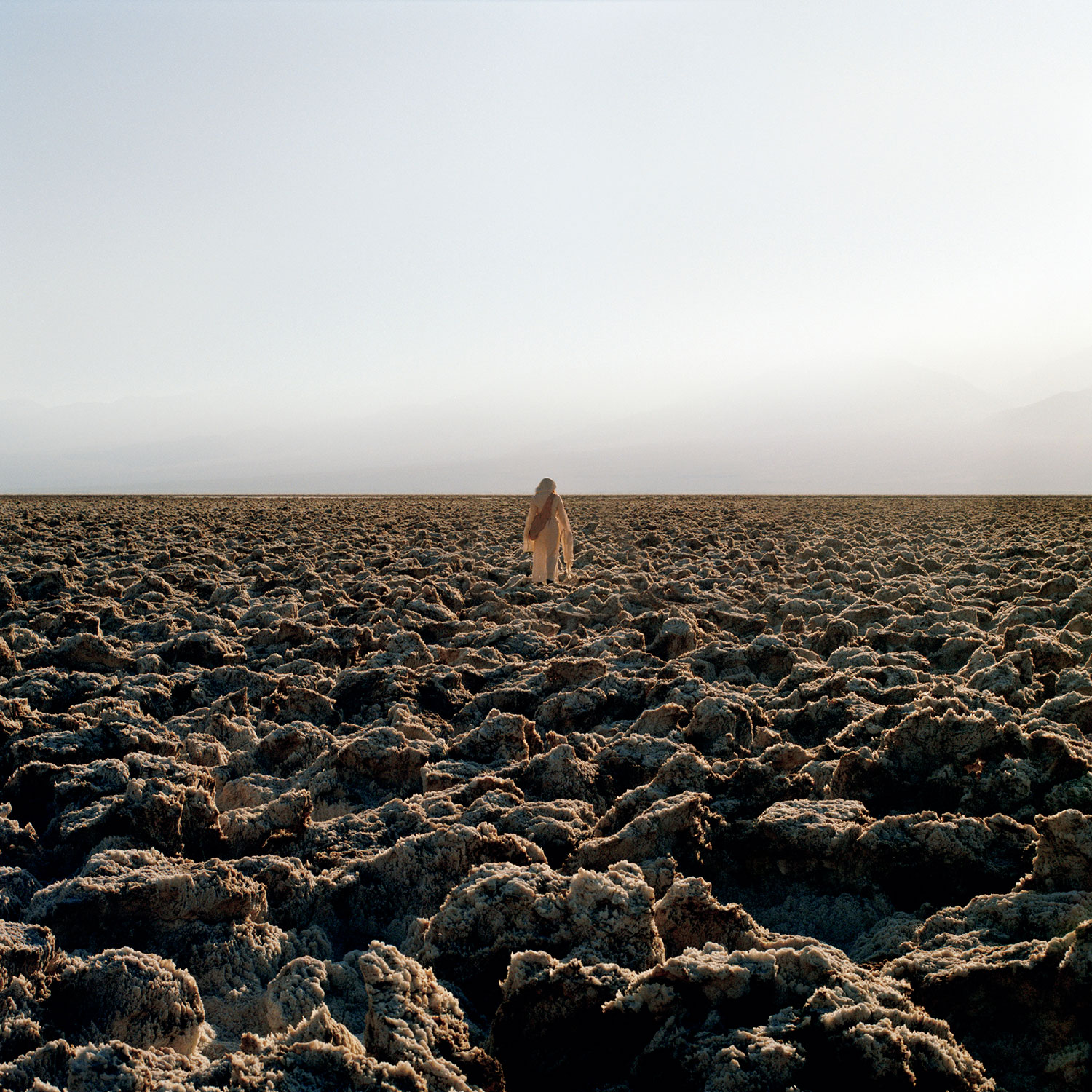 woman in arid landscape
