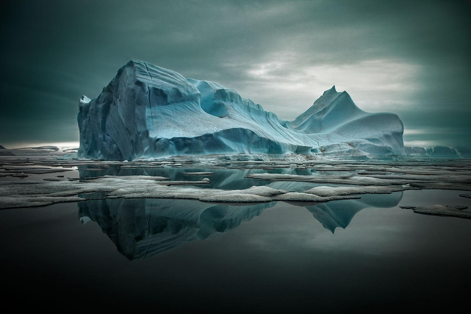 iceberg with reflection