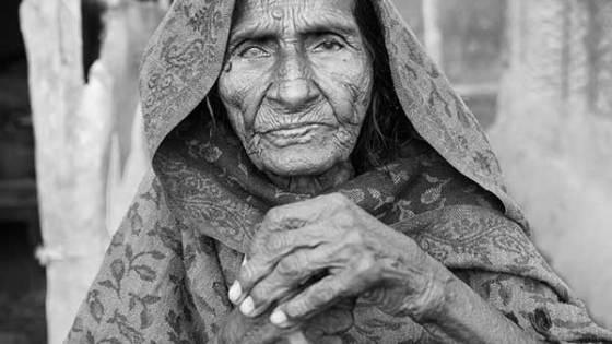 elderly woman in Nepal