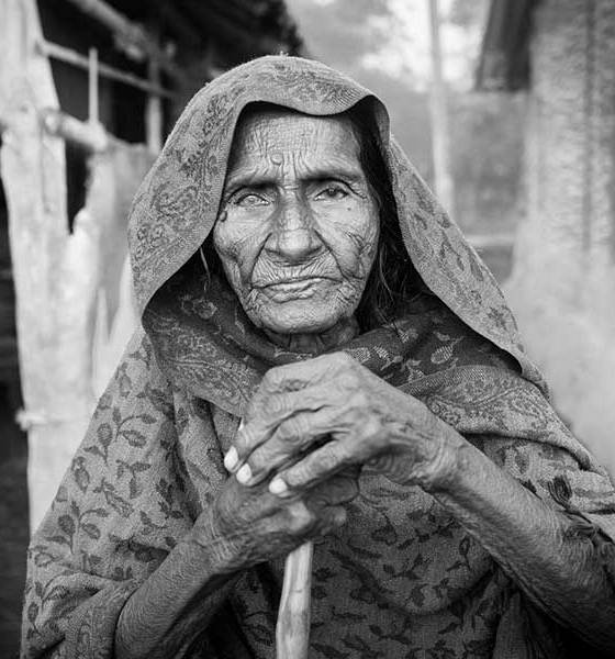 elderly woman in Nepal