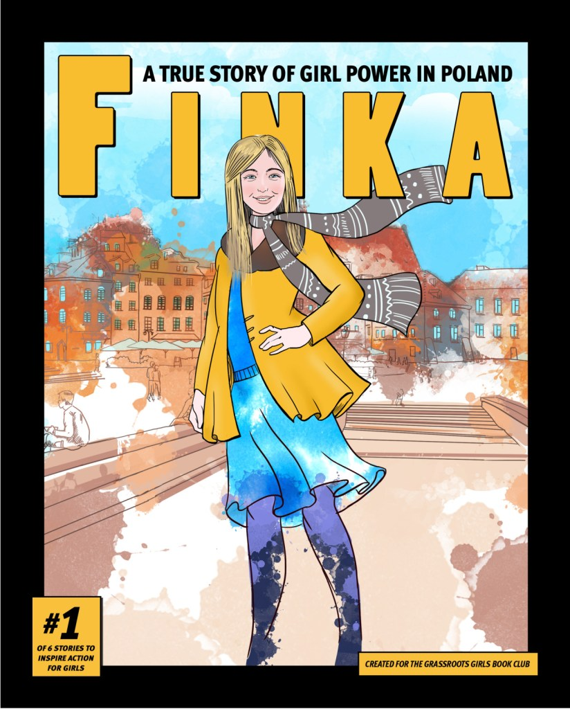 graphic novel cover with girl from Poland