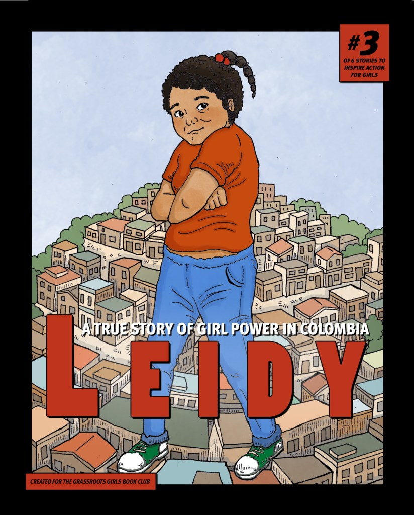 graphic novel cover with girl from Columbia