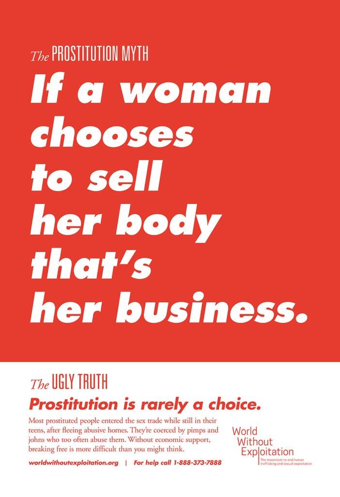 poster on myths of prostitution