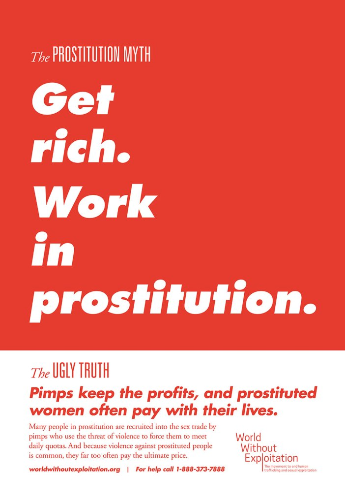 poster on myths of prostitution